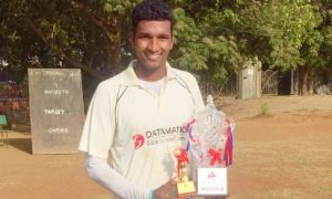 Kuldeep Vishwakarma's all-round show helps Datamatics XI win the finals of the Masters Cup