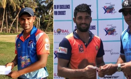 "Omkar Jadhav's sublime 59 and Karan Nandey""s fiery 73 helps their respective teams reach the finals of the Mitsui Shoji t20 League"