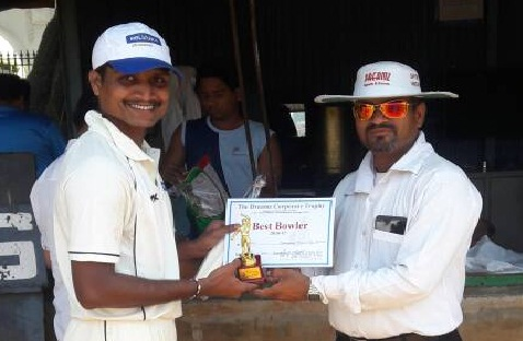 Off-Spinner Santosh Bhillare bags 4/22 to help Reliance Nippon win over WNS in the Dreamz T20 Tournament