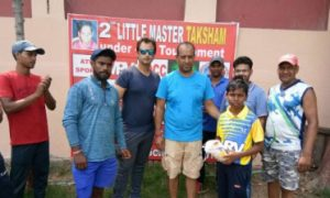 Promising Aditya Sharma scalps a fifer against Udaybhan Academy to enter into the semis of the U/12 Master Taksham Tournament