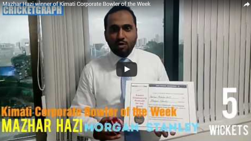 Mazhar Hazi Kimati Corporate Bolwer Of the Week