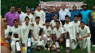 Bal Bhawan Ajmal Khan CC clinches a finals win in the 18th Manav Chopra Cricket Tournament 2017(U/19)