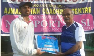 Rishipal's 61ball 106 falls in vain while good batting by Ajmal Khan Cricket Coaching helps them win the semis of the 18th Manav Chopra u-19 Memorial cricket tournament