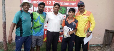 Leg-Spinner Pawan Bidawa stuns one and all with his 6/10 in the 2nd Master Taksham U/12 Tournament