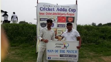 Jatin Kukreja's quick 31 and a wkt helps team P4C defeat Brave Hearts in the Cricket Adda T20 Cup 2017