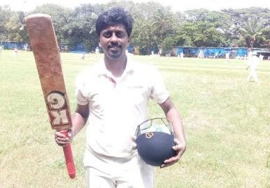 Vinish Phillips steals the show with his bright hundred vs Dahisar in the Kanga League 2017/18