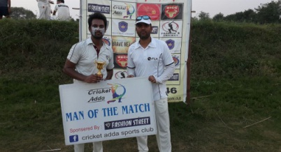 Sahil Querishi and Sanjay Sharma help SSCC win over Bravehearts in the Cricket Adda T-20 Cup 2017