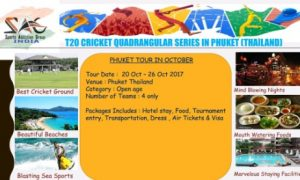 T-20 Cricket Quadrangular Series Tournament Thailand