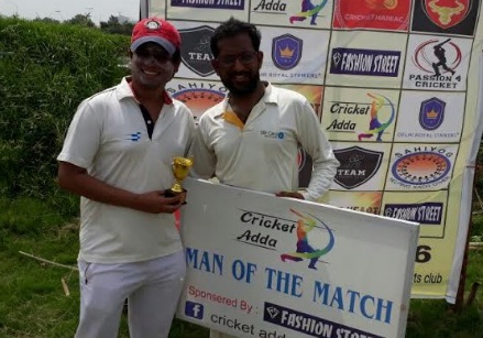 Abhishek's 4-fer helps Delhi Royal Strikers win in the Cricket Adda Cup 2017