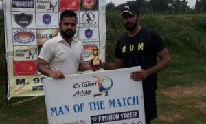 Digvijay and Aditya's quick half centuries steer SSCC to a flat win in the Cricket Adda Cup 2017