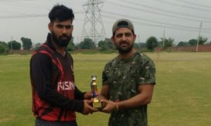Ashish Anjna's rapid 75 and 3wkts help Titans defeat Kings XI in the Skyline T20 Corporate League