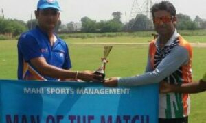 Deepak's all-round show helps Dezibel Cricket Club stun FCC with a win in the Skyline Champions League - 2017