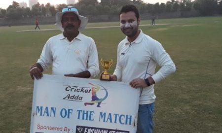 Sumit's 20ball 41 and Faiz's tight bowling helps Cricket Maniac win over SSCC in the Cricket Adda Cup T20 Cup 2017