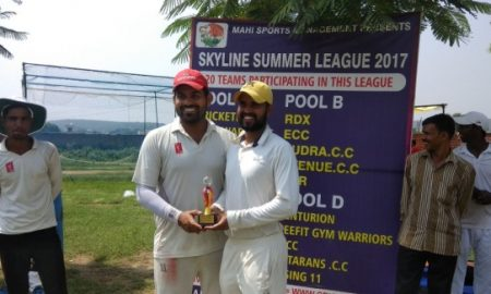 Opener Manoj Bedi hits an aggressive 37ball 74 to steer RGW at the top of the table in the Skyline T20 Summer League 2017