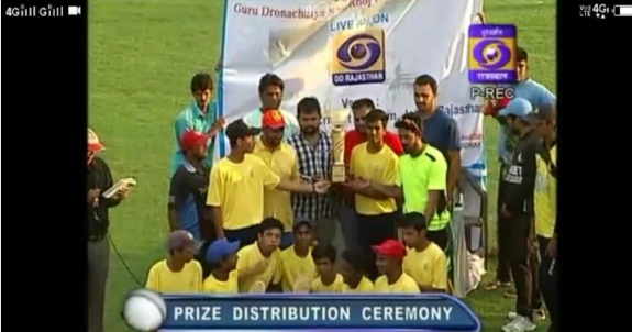 "Laxman's defiant 41 helps India Yellow ""B"" team win the finals of the Target Cricket League 2017"