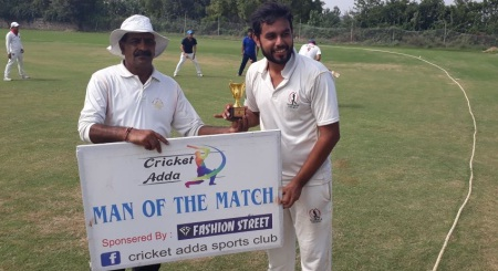 Arjun Mishra's all-round exploits helps Passion for Cricket win over DRS in the Cricket Adda T20 Cup 2017
