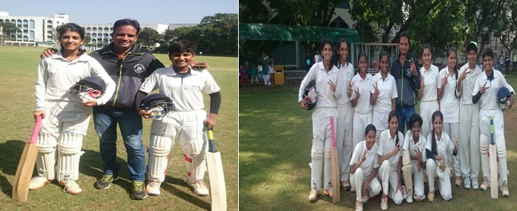 Anchal Valanju and Vaibhavi Raja steer SVM International School to a record title win at the School State Level Cricket Tournament
