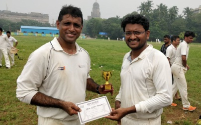 Fast Bowler Imtiyaz Khan rattles Tata AIA with a fifer in the Dreamz T20 Tournament