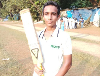 Young opener Faiz Rabbani 's half century steers Rizvi to a finale win in the DSO under 17 Tournament