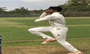 Fast Bowler Sairaj Patil scalps a 5wkt haul vs Karnatak SA in the A Div of Kanga League 2017