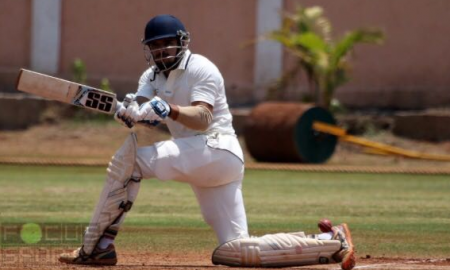 Middle order bat Yash Nahar scores a brutal 87* while Aditya Dhumal scalps 5wkts for Sind SC in the Kanga League 2017