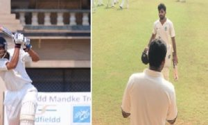 Chinmay Sutar scores a valiant 100 while Shubham Ranjane scores yet another match winning ton in the Police Shield Tournament '17