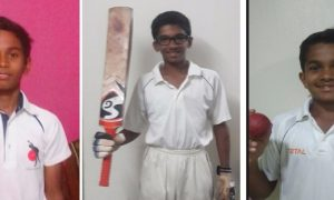 Pratik Gond along with Nishant Kadam and Rishi Bhosle leads their team to second win in Harris Shield