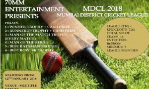 Mumbai District Cricket League 2018