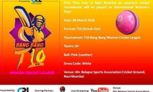 Bang Bang T-10 Women Cricket League 2018 Navi Mumbai